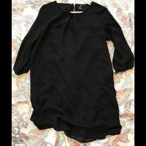 H&M gold zipper black tunic/ mini